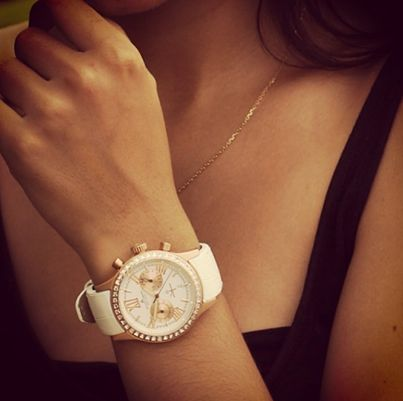 Jacques Lemans Gold and white watch
