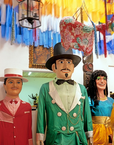 the famous giant dolls of olinda, pernambuco, during carnival, Brasil