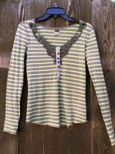 Free-People-039-We-the-Free-039-Legacy-Henley-Festival-Top-Extra-Small-EUC