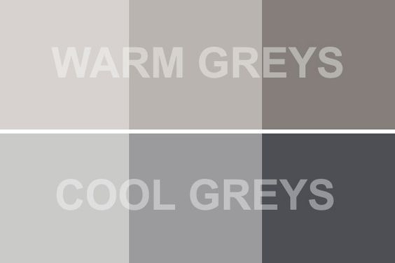 warm versus cool gray
