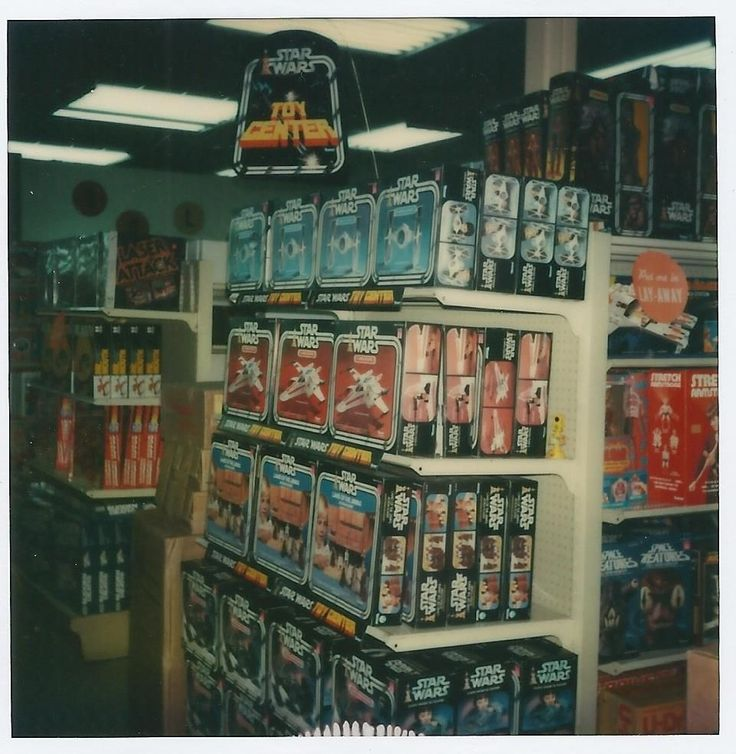 Vintage Star Wars display