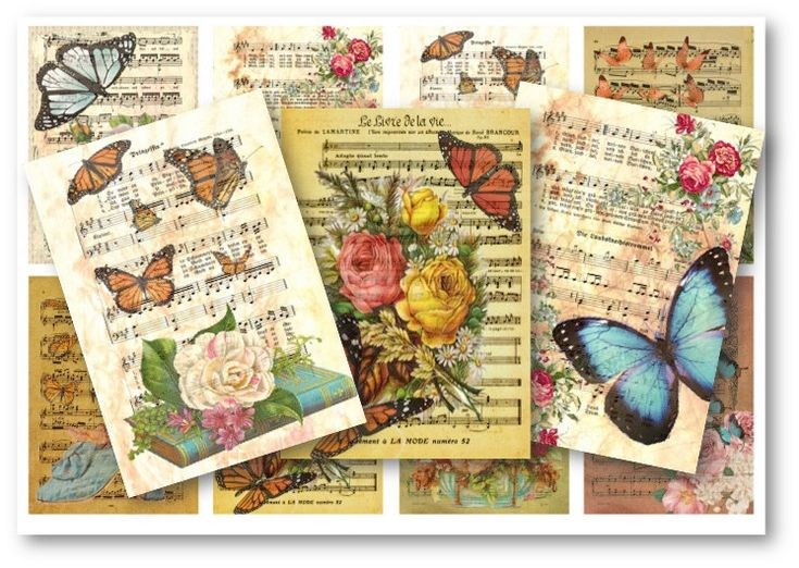 Butterfly Music Sheet Tags http://etsy.me/2CAJazS