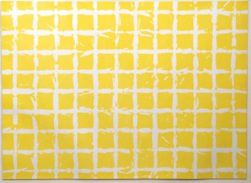 SIMON HANTAI. Né en 1922. Tabula jaune, 1975. Lithographie.
