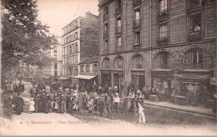 La place saint pierre bien anim e vers 1900 paris 18 me paris d 39 a - Place saint pierre paris ...