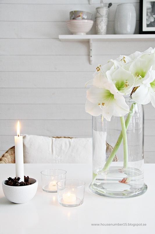 Weiße Amaryllis im Kerzenlicht.  #amaryllis #bouquet #blumenstrauss #amayrllisstrauss #white #weiss #tollwasblumenmachen #winterblumen