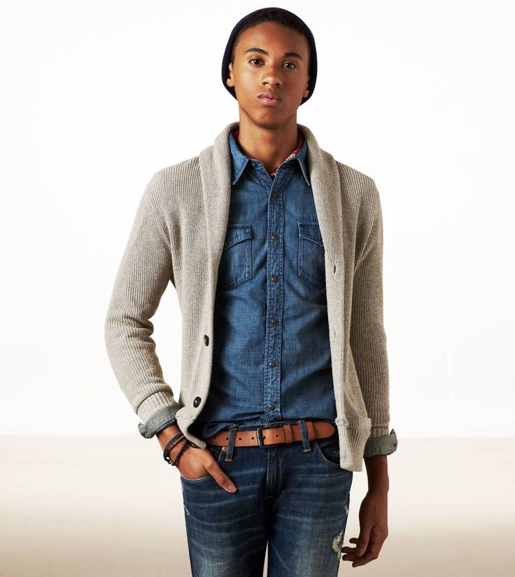Shop for men's cardigan & cardigan sweaters. See the latest styles, colors & brands of cardigan sweaters from Men's Wearhouse. This shawl-collar cardigan is a modern take on a classic that is both comfortable and stylish. In an easy-care blend of cotton and polyester, it has two deep patch front pockets and a ribbed-knit hem and cuffs%.