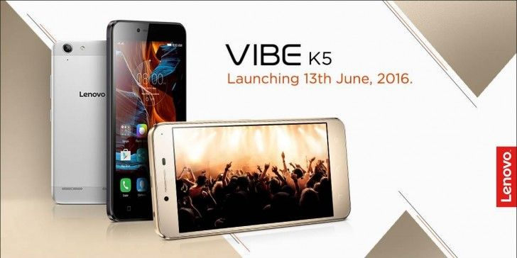 Lenovo Vibe K5 launching in India on June 13