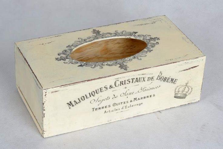Beautiful decoupage tissue box