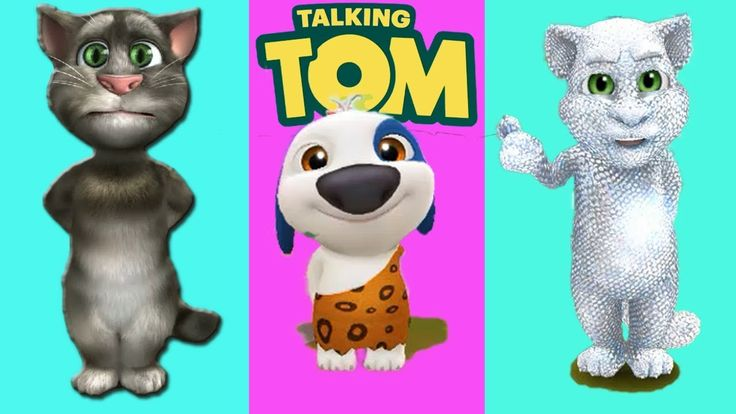 My Talking Tom vs Talking Tom cat vs My Talking Hank - Android Gameplay With Mini Games For Kids