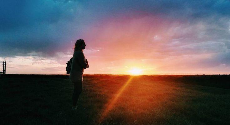 The sunset at university in Port Elizabeth
