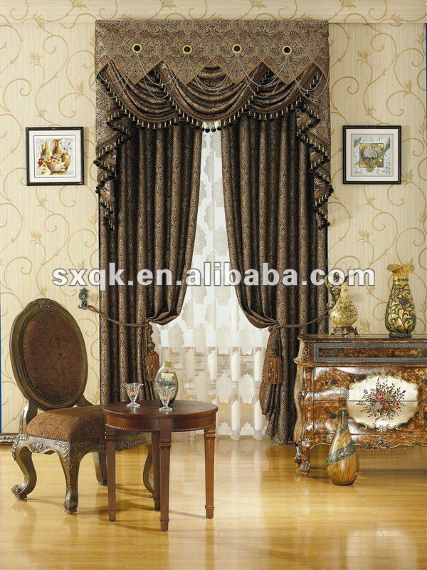 le yard 100 de polyester a teint le rideau en fen tre de jacquard avec la belle draperie et. Black Bedroom Furniture Sets. Home Design Ideas