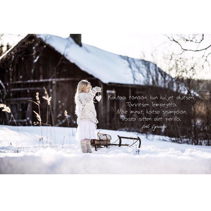 """14 tykkäystä, 3 kommenttia - Joel Jyrinki (@joeljyrinkiofficial) Instagramissa: """"Kohtaa tänään... #joelkortit #ajatus #lapsikuvaus #kevät #winterday #heart #angel #onelife…"""""""