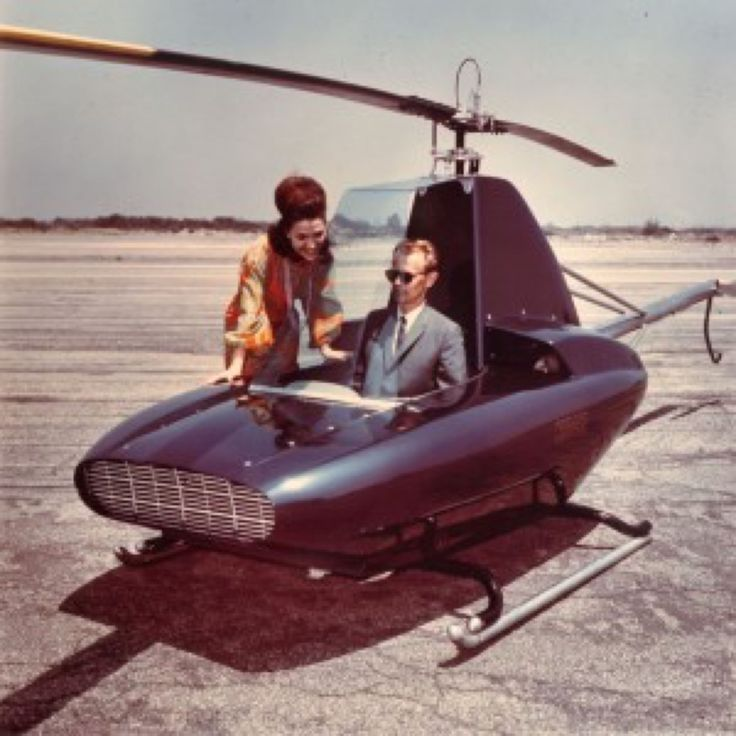 "scifiseries:  ""The Rotorway Javelin personal helicopter  """