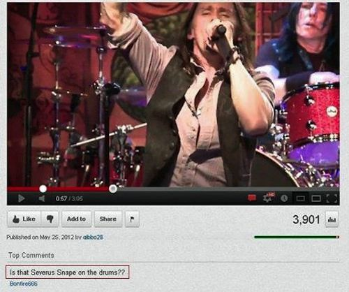 funny youtube comments (The Ozzy one made me snort my drink!)