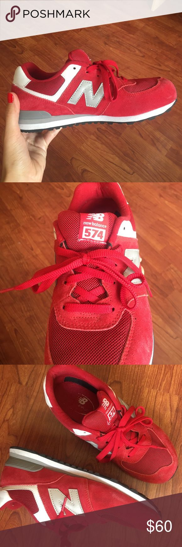 New Balance Red 574 Worn 5 times, very comfortable and stylish! Bought from a New Balance store in Spain #newbalance #red #redsneakers #shoes #sneakerhead #sneaker #sneakers #comfy #comfortable New Balance Shoes Sneakers
