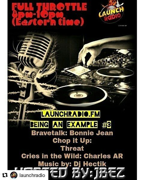 """Credit to #launchradio  ・・・ PART 3 OF BEING AN EXAMPLE... Must tune in 1Tim4:12 we have broke this  1 verse down the past 3 Fridays. Tune in tonight for the final episode of """"Being an Example""""  Chop it Up: #thekingthreat  Bravetalk: #bonniejeanl  Hosted by #jbez2133  Music mix right after by the 1 and only #djhektic435 ☀ ☀ ☀ #HollywoodTapFL #HollywoodFL #HollywoodBeach #DowntownHollywood #Miami #FortLauderdale #FtLauderdale #Dania #Davie #DaniaBeach #Aventura #Hallandale #HallandaleBeach…"""