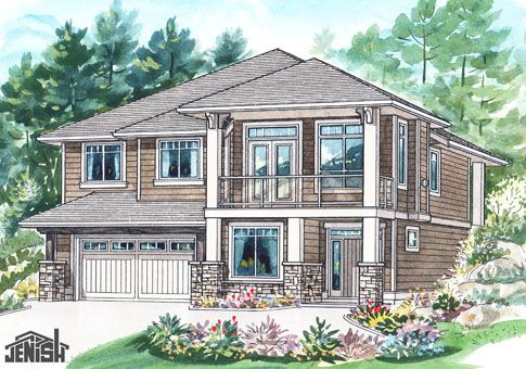 Beautiful Slope Lot Up Hill House Plan