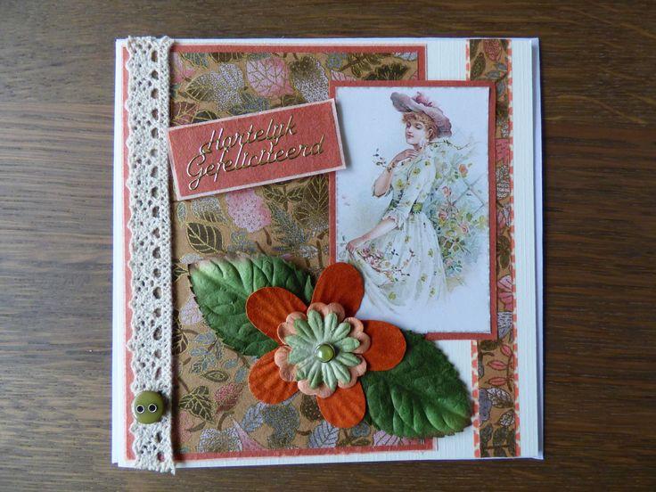 Vintage kaartje gemaakt! Made by Jeanet