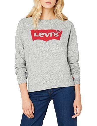 Levi's Damen Relaxed Graphic Crew Sweatshirt GreyFleece