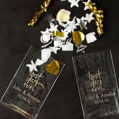 Personalized Wedding Cellophane Bags by Beau-coup