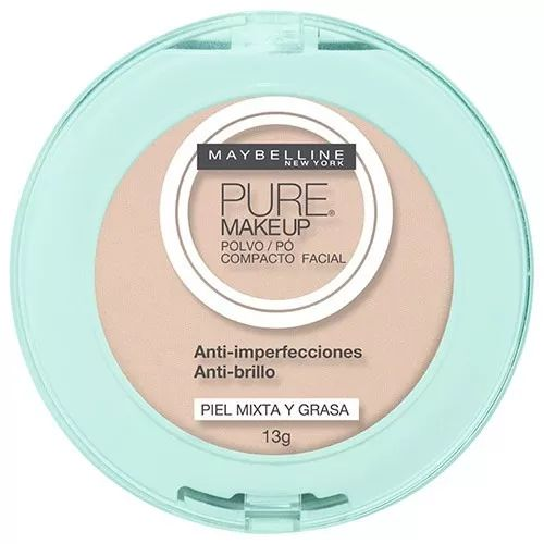 polvo compacto maybelline pure make up claro natural