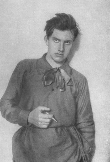 Russian poet and playwright Vladimir Mayakovsky, 1910.