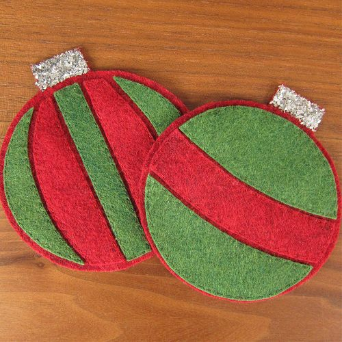 Christmas ornament coasters!
