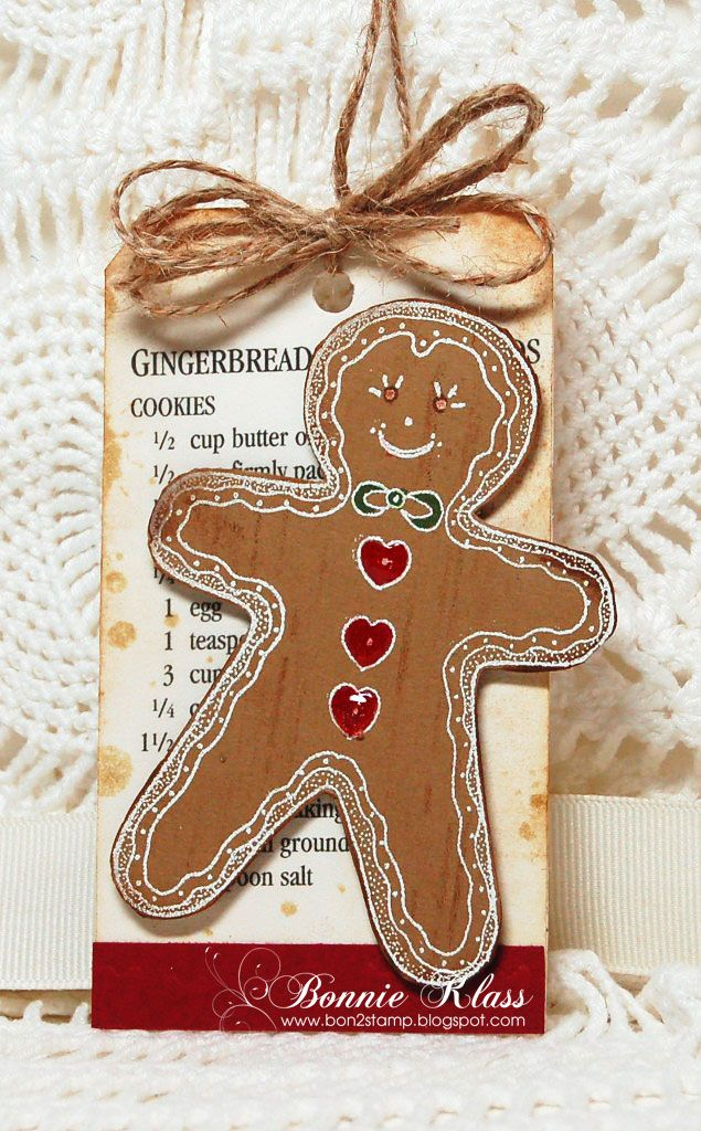 Stamping with Klass: Gingerbread Boy Tag