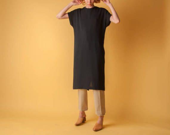 black sack dress / little black black dress / black minimalist