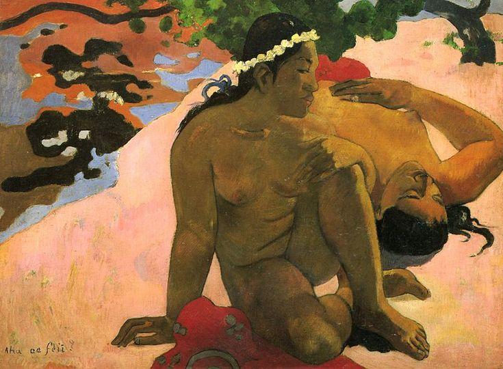 Paul Gauguin, Aha oe feii?, 1892. Olio su tela, 66×89 cm. Museo Puškin, Mosca
