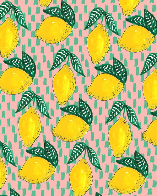 Lemons. #pattern #illustration