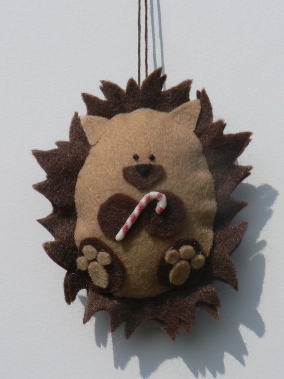 Felt Christmas Ornament - Felt Hedgehog Ornament