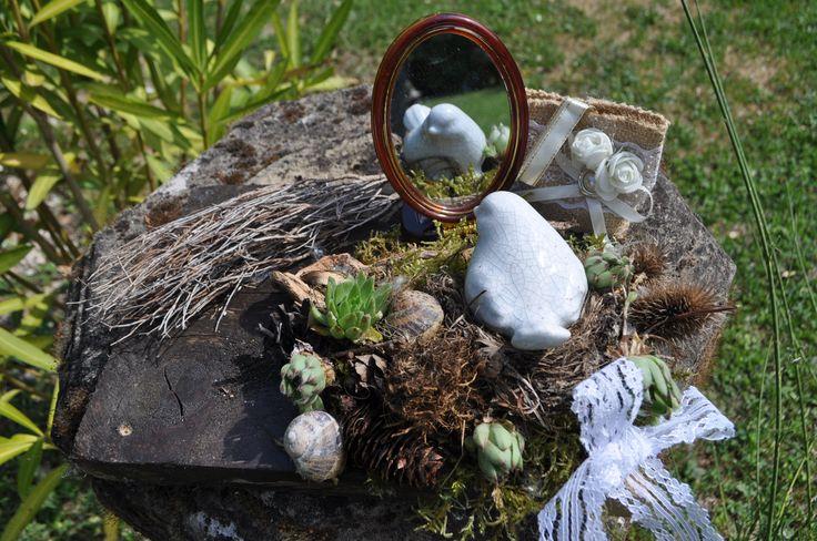 Gartendeko: Viele Dekoanregungen für euren Garten findet Ihr im Casa Valrea Ferienhaus am Fluss in Italien.