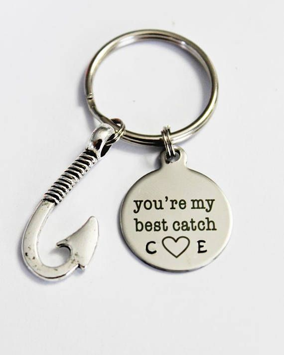 You're My Best Catch. Gift for Him. Gift for Her. Couples Gift. Anniversary Gift. Hook. Best Catch Keychain. Couples Keychain