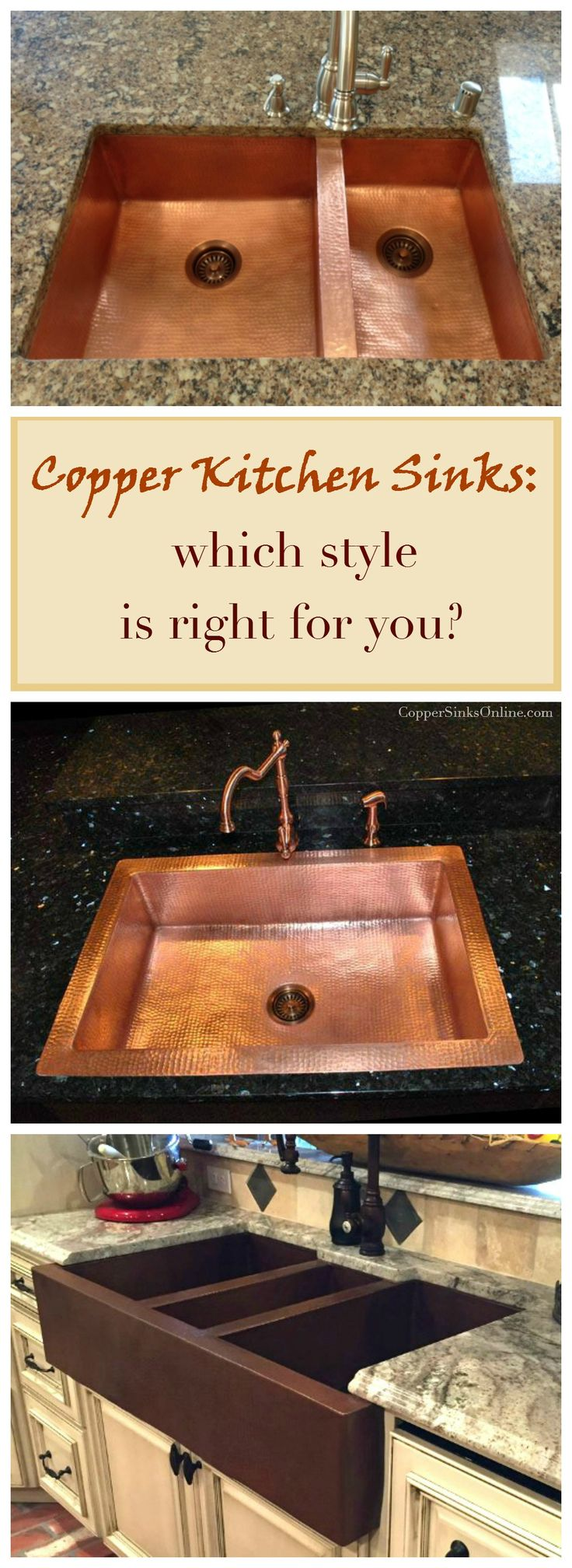 Copper Kitchen Sinks With Single, Double Or Triple Well Split   Which Kind  Is Right