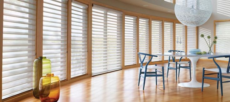 19 best hunter douglas silhouette images on pinterest shades surround yourself with the beauty of softened sunlight in this contemporary dining room spacesilhouette window shadings hunter douglas window solutioingenieria Images