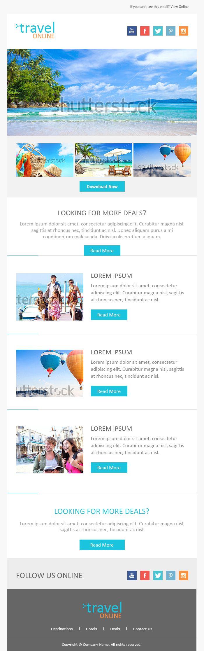 25 melhores ideias sobre Html Newsletter Templates no Pinterest – Sample Html Email