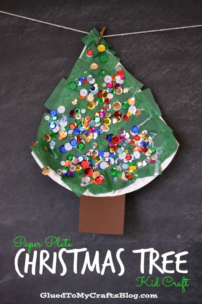Paper Plate Christmas Tree Kid Craft 813
