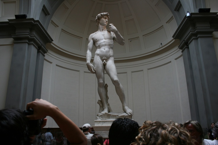 David at the Acadamia.  Florence, Italy. July 2007