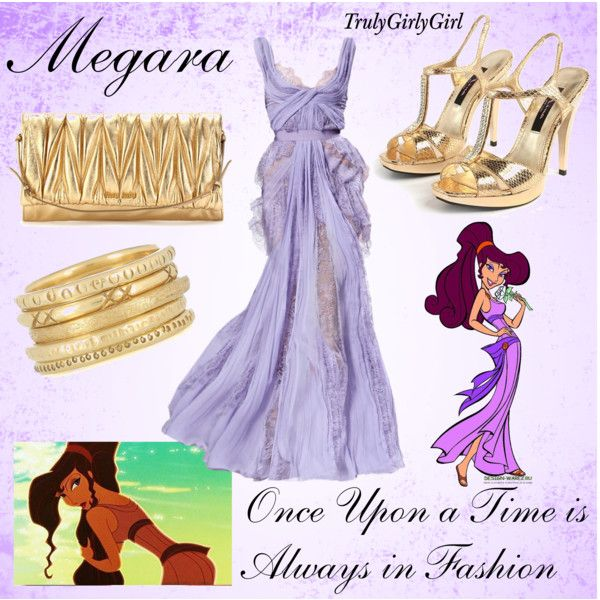 Disney Style: Megara, created by trulygirlygirl on Polyvore