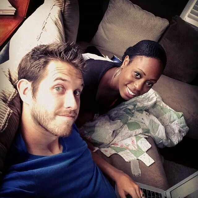 The beautiful interracial couple the Nive Nulls #love #wmbw #bwwm