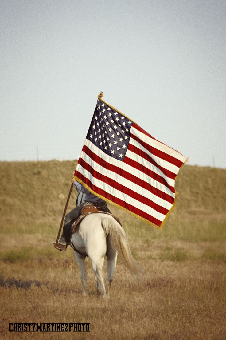 one of these days I just want to ride into town carrying the flag with my horse just for my grandfather