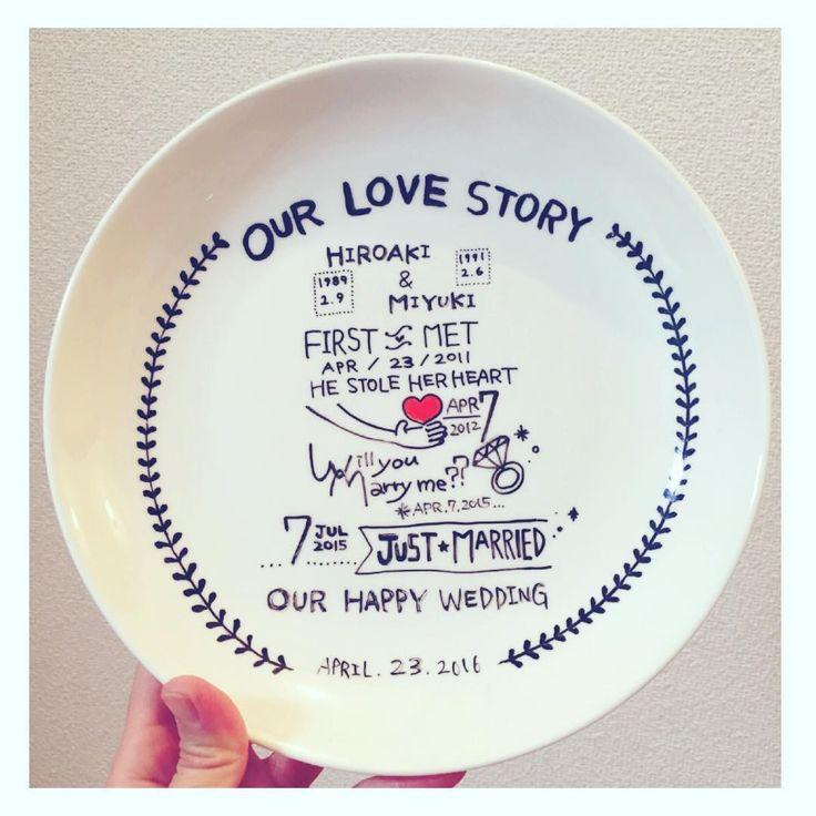 200円で格安DIYできる♡お皿にふたりの歴史を刻む〔ラブストーリーディッシュ〕って知ってる?* | marry[マリー]