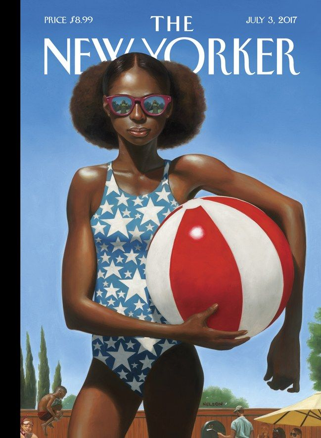 "The New Yorker - Monday, July 3, 2017 - Issue # 4693 - Vol. 93 - N° 19 - Cover ""Bright Star"" by Kadir Nelson"