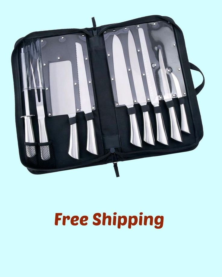 Professional Chef Knife Set Food Prep Kitchen Knives Cutlery New in Box #Slitzer