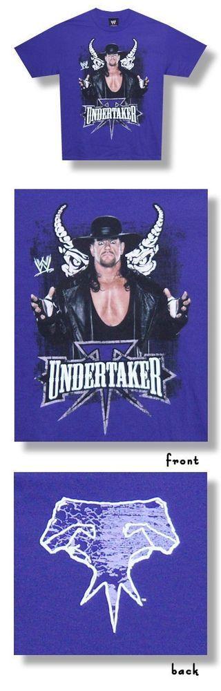 Adult Men's Official WWE The Undertaker Powerful Presence Tee Shirt- Purple M #RAW