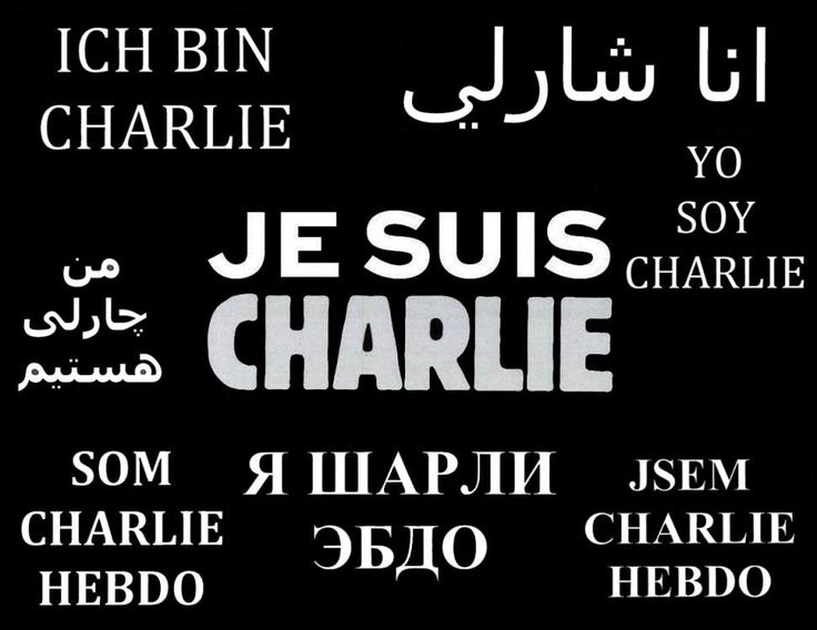'Je suis Charlie', 'I am Charlie', the world is Charlie.
