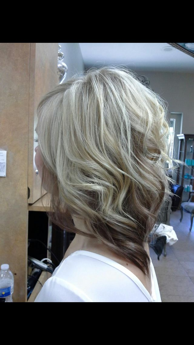Growing Out A Line Cut Blonde Highlights With Caramel