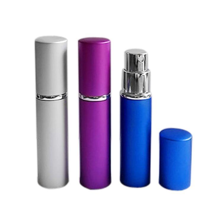 Rechargeable bouteille de parfum 5 ml En Aluminium Compact Parfum Portable Vide Atomiseur parfum en verre parfum bouteille contenant Pulvérisateur