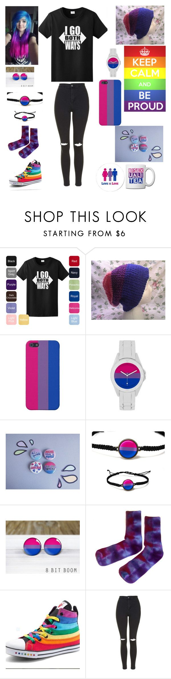 """""""Bi visibility week!!!!!"""" by broadwaybaby01 ❤ liked on Polyvore featuring Topshop"""